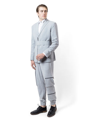 GREY LINNEN SUIT