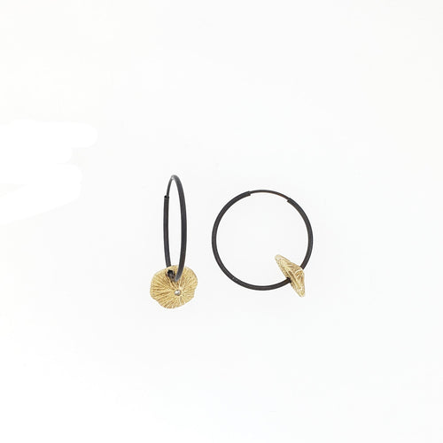 La Playa Gold Medium Hoops