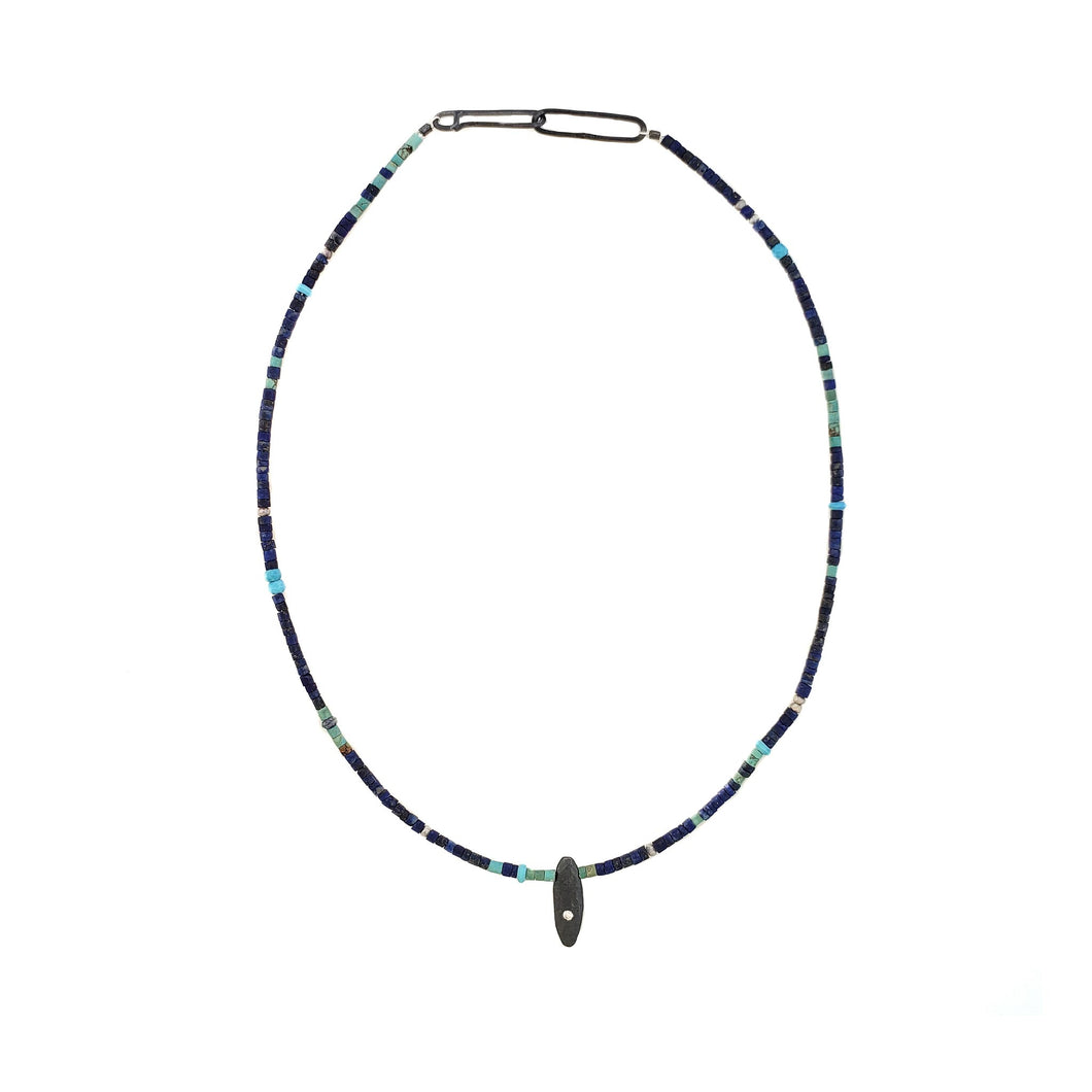 Lapis Choker with Amylum Star