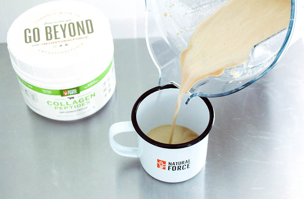 coffee with collagen peptides, one of many foods on our keto shopping list