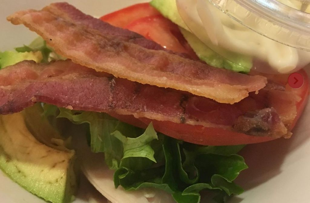 keto roasted turkey and avocado blt without bread at panera