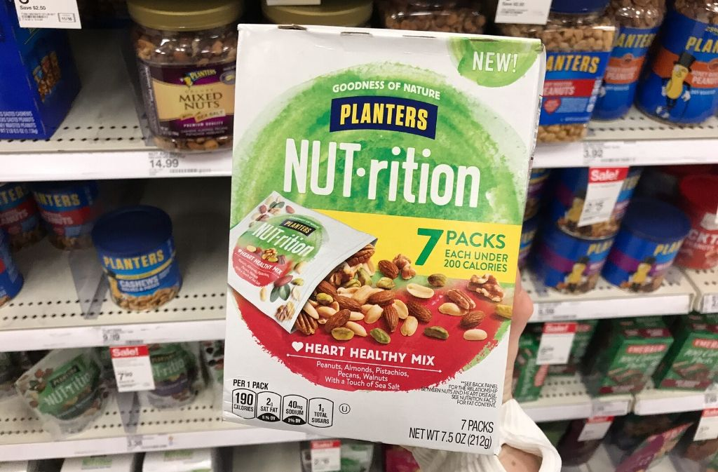 box of nut rition single serving nut packs