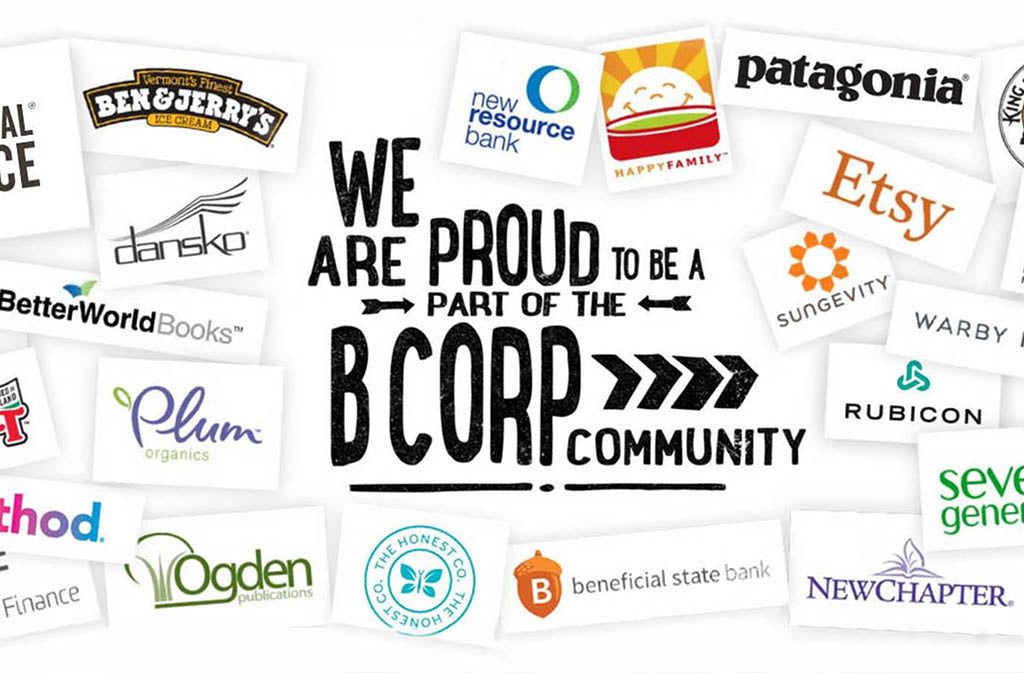 we are proud to be a part of the b corp community banner