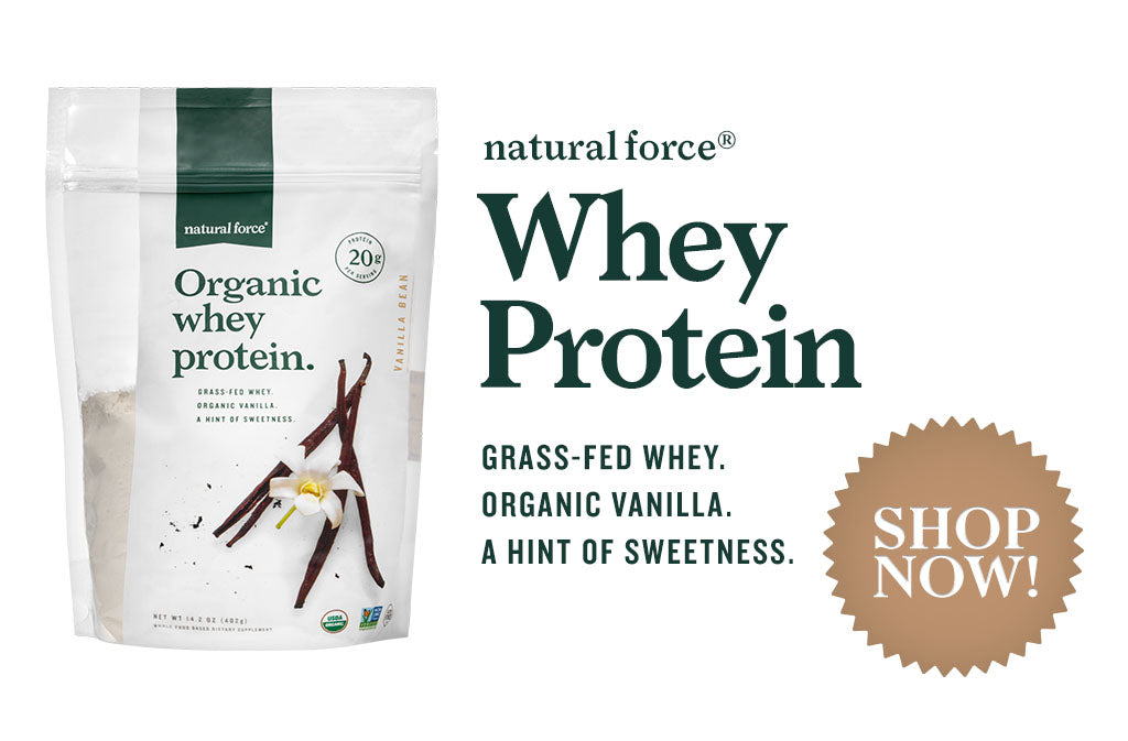 Natural Force Organic Vanilla Whey Protein shop now