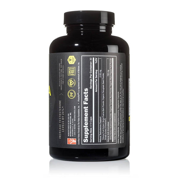 left side of natural force 30 serving alpha strength bottle