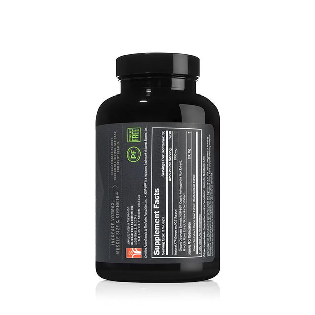 left side of natural force 30 serving cordyceps pro bottle