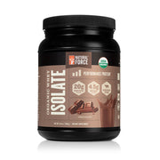 front side of natural force 15 serving chocolate organic whey isolate