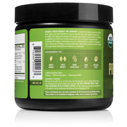 right side of natural force 30 serving apple ginger organic pre-workout