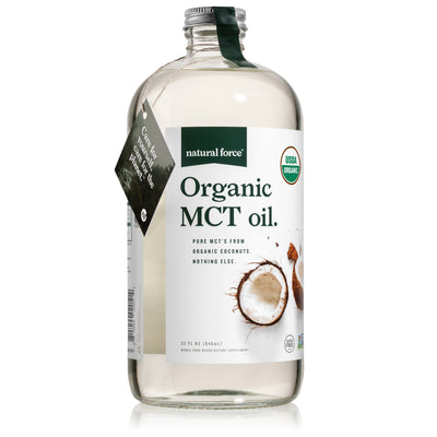 32 ounce natural force organic mct oil bottle front