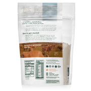 back side of natural force 15 serving unflavored organic whey protein