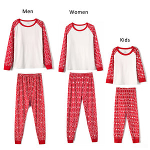 Christmas Pajamas -White with Christmas Pattern