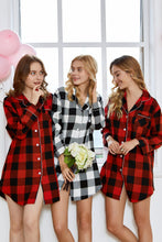 Load image into Gallery viewer, Plaid Sleepshirt