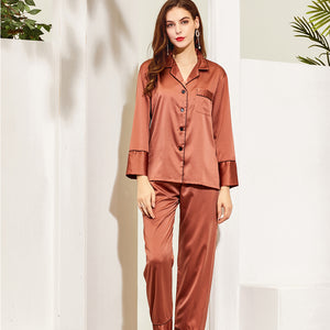 Satin Long PJ Set