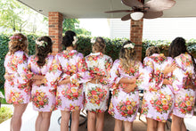 Load image into Gallery viewer, Floral Bridal Robe