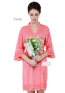 Regular Lace Bridal Robe
