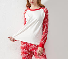 Load image into Gallery viewer, Christmas Pajamas -White with Christmas Pattern