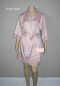 LACE Bridesmaid Robes - Rose Lace