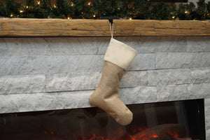 Custom Burlap Stockings