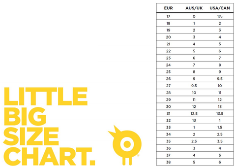 Old Soles Footwear Size Chart, Size Guide