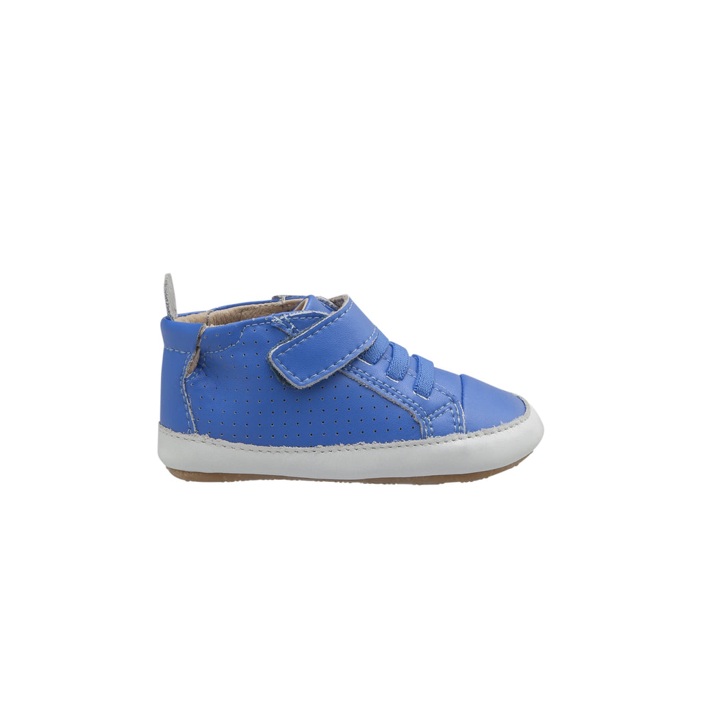 Cheer Bambini Cobalt blue. First walking shoes. Pre walkers. Leather Baby Shoes. Old Soles 2020 collection. shop online or in store at Sticky Fingers Children's Boutique, Niddrie, Melbourne.