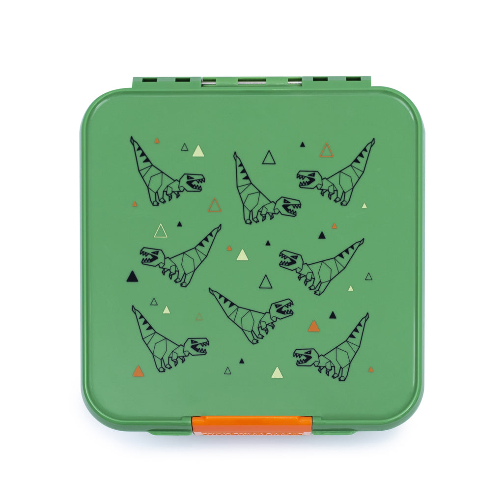 Little Lunch Box. Bento Five T- Rex Box. Shop online or in store at Sticky Fingers Children's Boutique, Niddrie, Melbourne.