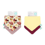 Load image into Gallery viewer, Bandana Bibs 2pk Reversible Lily Rose