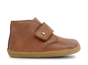 Bobux Step up Boots for boys. Desert Caramel Boot for boys. First walking leather shoes for boys. Shop in store or online at Sticky Fingers Children's Boutique Niddrie, Melbourne.