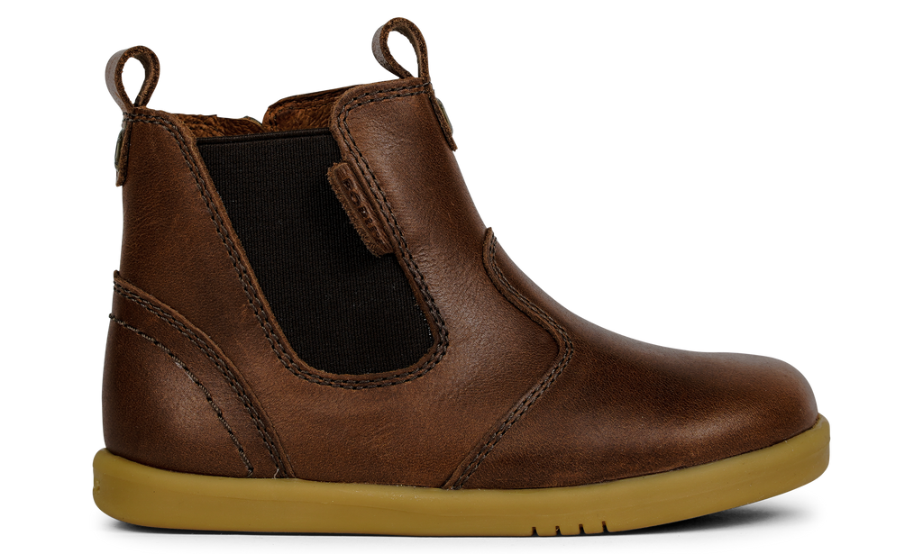 Brown leather boots for children. Brown boots for girls. Brown boots for boys. Leather boots. Classic brown boots. Shop local at Sticky Fingers Children's Boutique in Niddrie, Victoria, Melbourne.