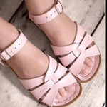 Load image into Gallery viewer, Saltwater Original Sandals in Shiny Pale Pink at Sticky Fingers Children's Boutique