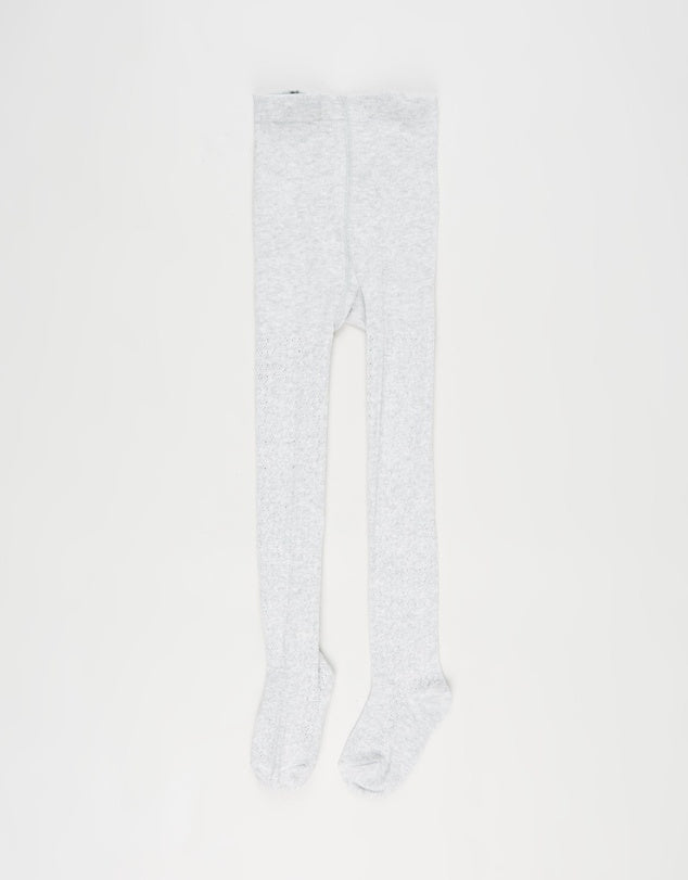 Grey Tights - Minihaha - Sticky Fingers Children's Boutique