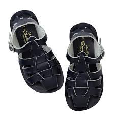 Saltwater Sandals Shark in Navy at Sticky Fingers Children's Boutique