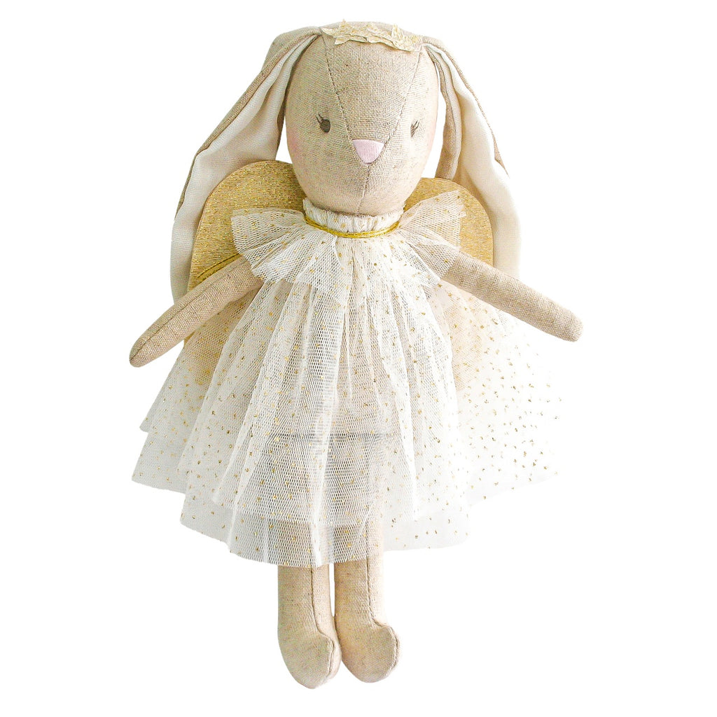 Alimrose Bunny Mini Angel Ivory, Sticky Fingers Children's Boutique Niddrie, Shop local