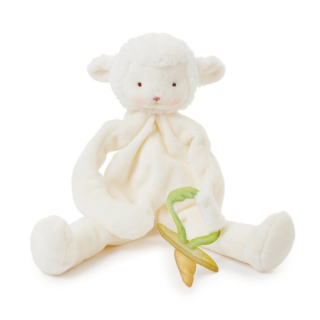 Lamby Comforter and Pacifier Holder. Baby gifts. Shop now online or in store at Sticky Fingers Children's Boutique, Niddrie, Melbourne.