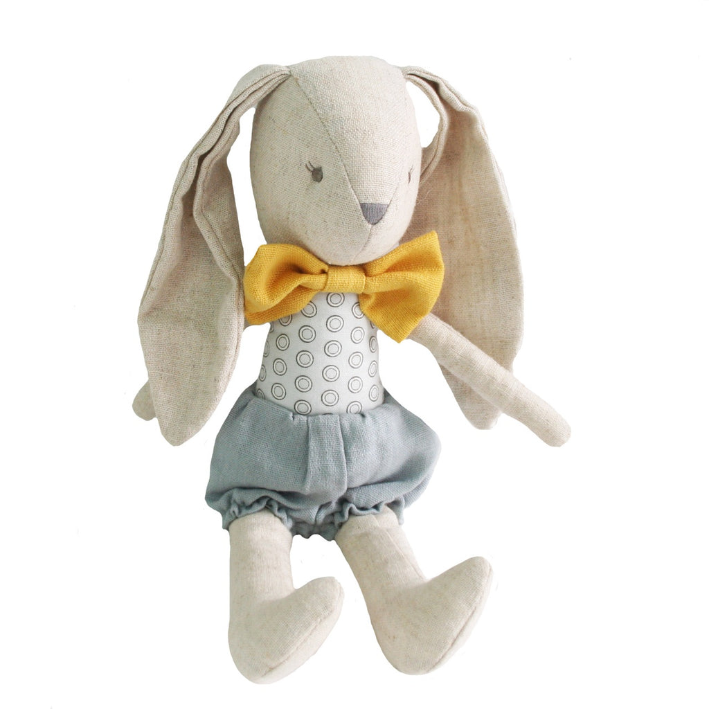 Alimrose Bunny Baby Boy Grey Butterscotch, Sticky Fingers Children's Boutique Niddrie, Shop local