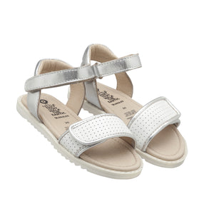 Sport Silver and snow sandal for girls. Old Sole summer collection  2020. Shop online or in store at Sticky Fingers Children's Boutique, Niddrie, Melbourne.