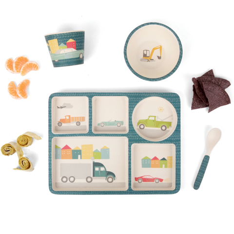 Divided Plate Dinner Set Cars
