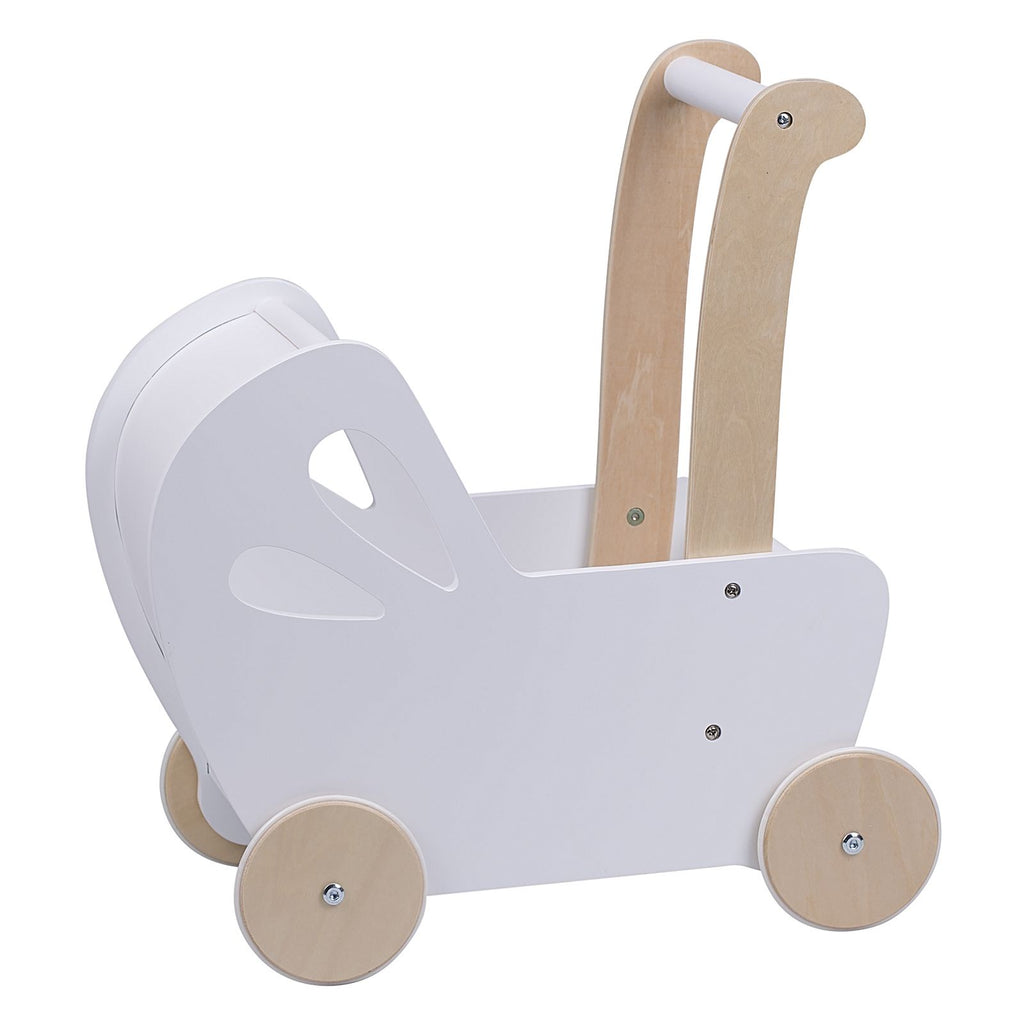 Moover Pram in white. Toys for Children. Shop in store or online at Sticky Fingers Children's Boutique in Niddrie, Melbourne.