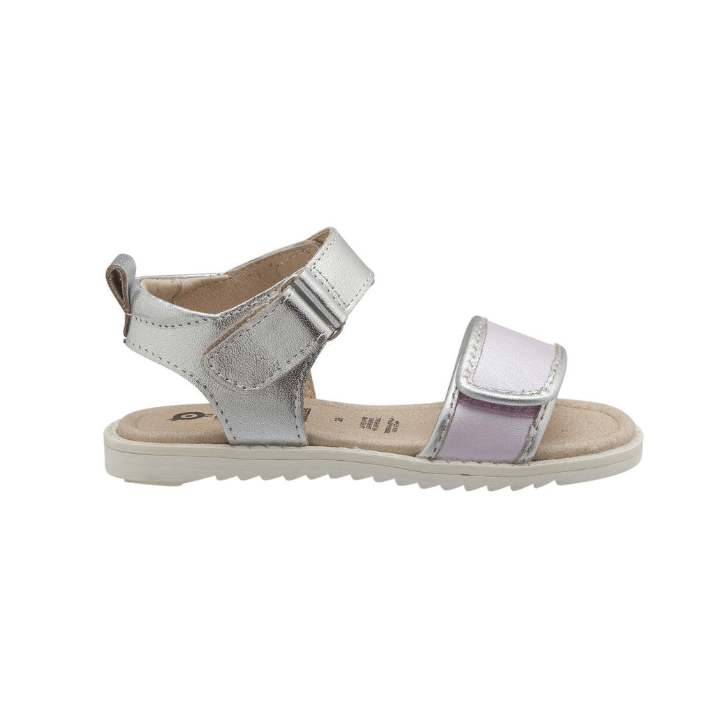 Glam Tish. Lilac and silver. Leather Sandals for girls. Old Sole sandals for girls. shop local at Sticky Fingers Childrens Boutique in Niddrie, Melobourne.