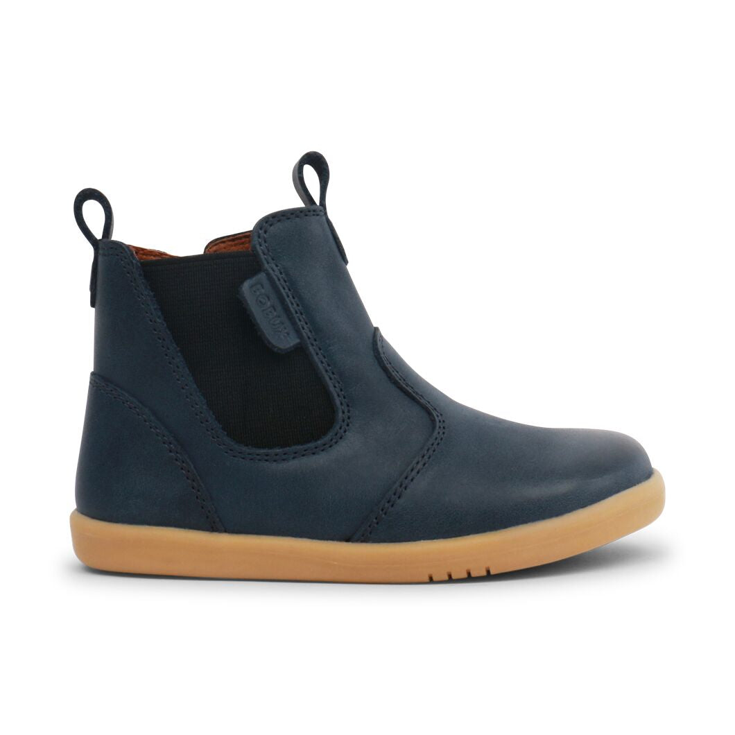 Navy boots for boys. Navy boots for girls. Navy leather boots. Classic navy leather boots. Shop local at Sticky Fingers Children's Boutique Niddrie, Melbourne, Victoria