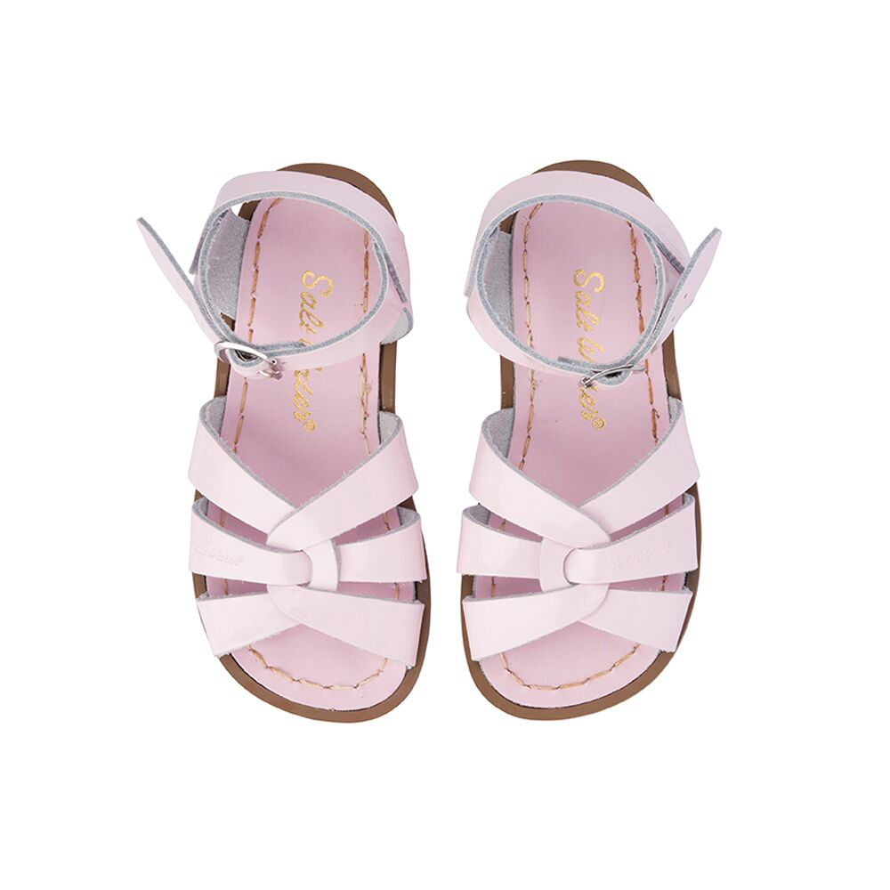 Saltwater Original Sandals in Shiny Pale Pink at Sticky Fingers Children's Boutique