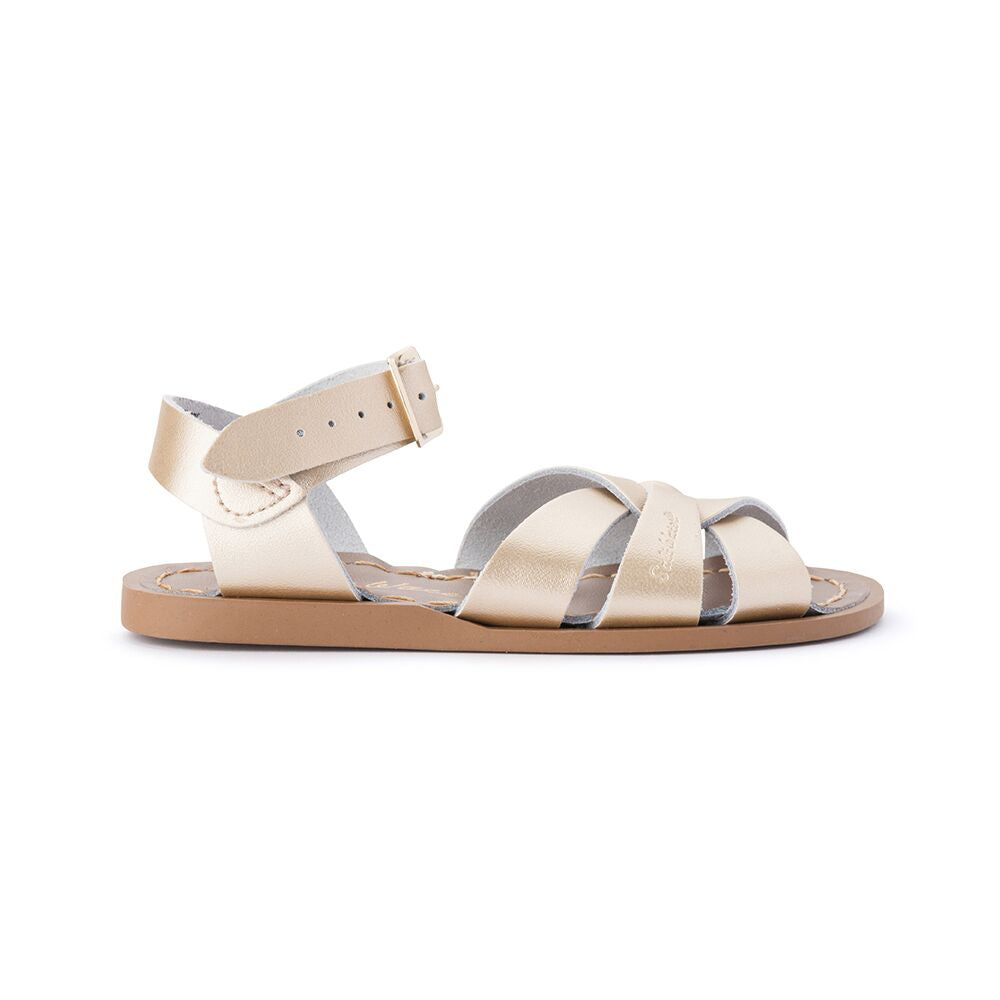 Saltwater Original Sandals in Gold at Sticky Fingers Children's Boutique