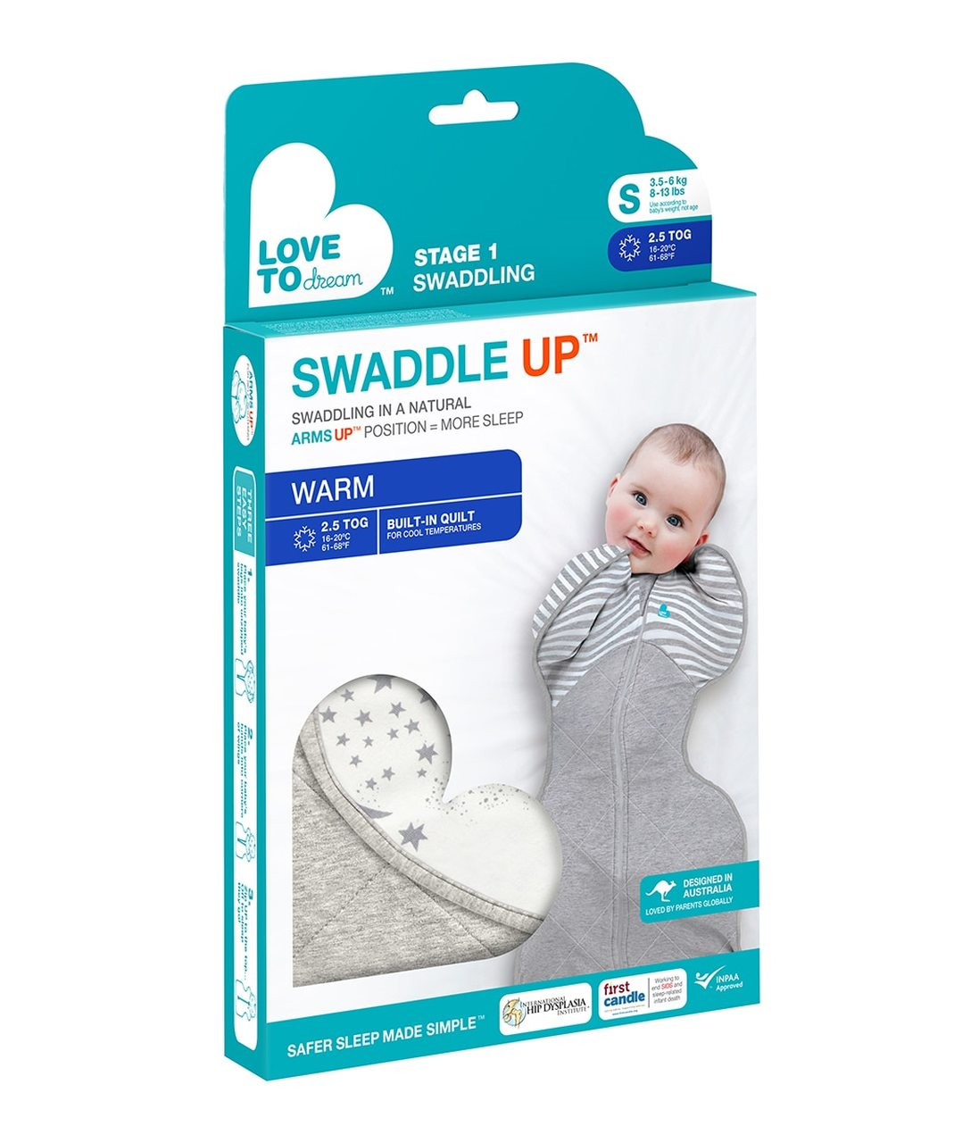 Love To Dream Baby Wrap SWADDLE UP Warm 2.5 TOG at Sticky Fingers Childrens Boutique