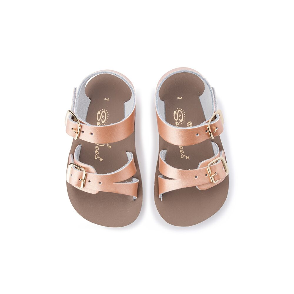 Saltwater Sandals Sea Wees in Rose Gold at Sticky Fingers Children's Boutique