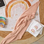 Load image into Gallery viewer, Double Muslin Cotton Blanket Peach Whip