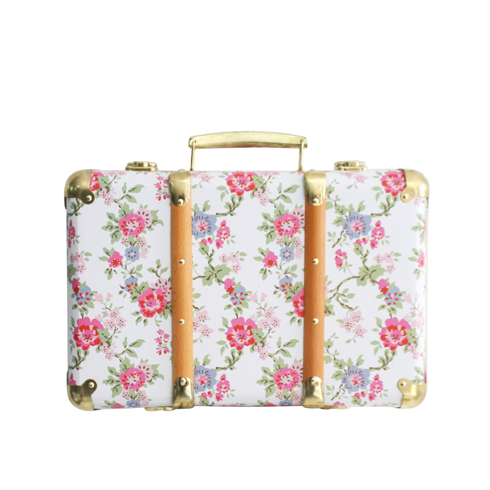 Vintage Style Carry Case COTTAGE ROSE