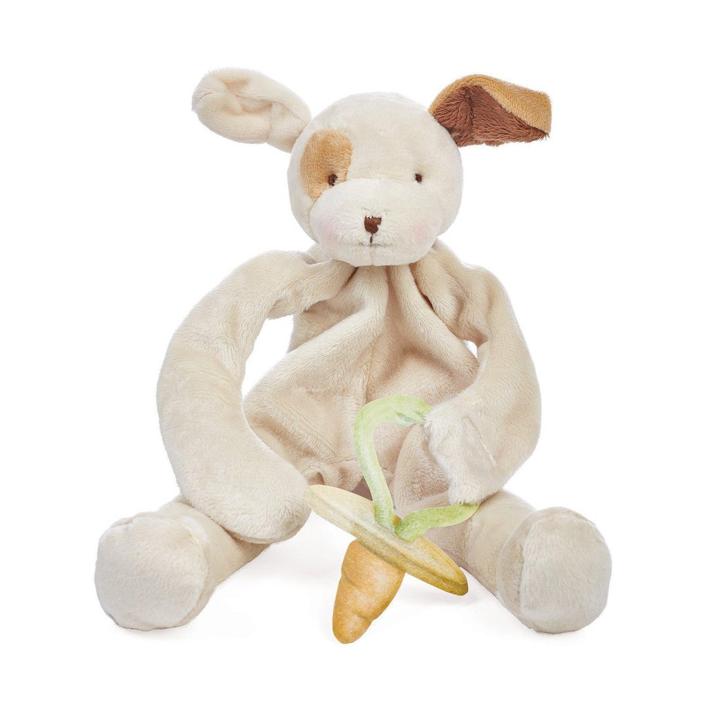 Puppy Comforter and Pacifier Holder. Baby gifts. Shop now online or in store at Sticky Fingers Children's Boutique, Niddrie, Melbourne.