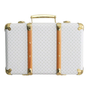 Vintage Style Carry Case GREY SPOT