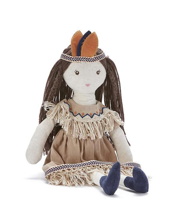 Little Miss Indy. Nana Huchy Dolls. shop in store or online from Sticky Fingers Children Boutique, Niddrie, Melbourne.