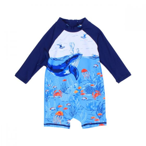 Cody Whale Sunsuit- Bebe