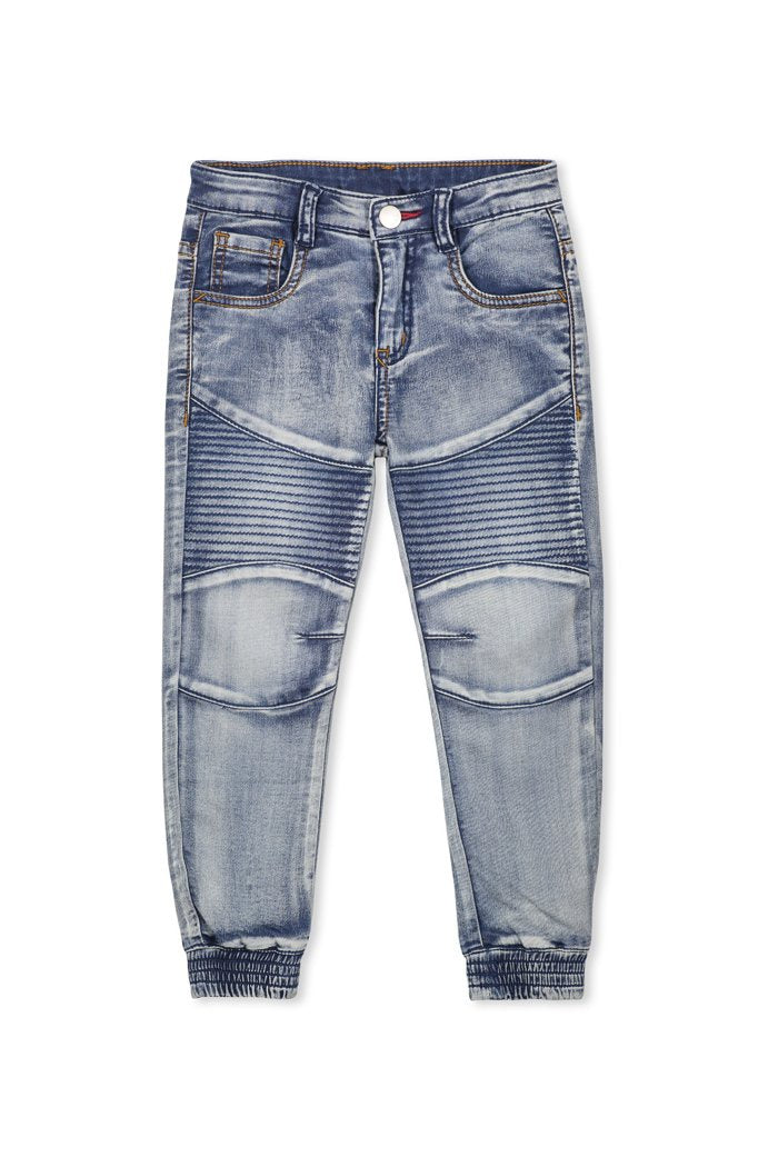 Milky Blue Denim for boys. Shop in Store or Online At Sticky Fingers Children's Boutique in Niddrie, Melbourne.